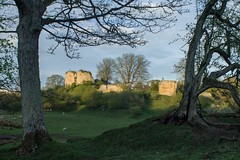THE RUINS OF MITFORD CASTLE, NORTHUMBERLAND (Russell Photographic Images) Tags: mitfordcastle northumberland pentax pentaxks2 manualfocus smcpentaxm11450mm castle ruin sunset