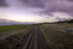 Where does this track lead ? (- A N D R E W -) Tags: sunset spring color colors vibrant train track primavera sunlight clouds canon 80d sigma 1020mm f35 ex dc hsm wide angle
