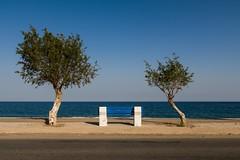Afandou Beach - Rhodes (E_W_Photo) Tags: afandou beach rhodes dodecanese greece bench trees sea holiday blue canon 80d sigma 1750mm