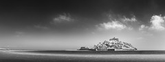 Ellipse of Light, St Michael's Mount (Mick Blakey) Tags: nationaltrust stmichaelsmount beach black blackwhite calm clouds coast coastal coastline contrast cornish cornwall curves harbour highlights infrared monochrome panoramic peaceful receding sand sea seascape seashore shadows shingle shore shoreline structure surreal tidal white