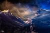 Stormy Night (Ukelens) Tags: ukelens bern schweiz swiss switzerland suisse svizzera niesen berg berge mountains mountain photomaipulation manipulation composing photoshop lightroom flash blitz night nacht stars sterne sternenhimmel alps alpen oberland light lights lighteffects licht lighteffect lichter lichteffekt lichteffekte lightshow clouds wolken nature natur