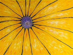 Sunflower (Pejasar) Tags: acrylic painting yellow art artistic 30x40 sunflower painterly
