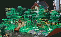 Bree and the Buckleberry Ferry (norlego) Tags: lego legolotr legolordoftherings legobree legoforest legomiddleearth legotolkien legomoc lotr lordoftherings tolkien middleearth bree frodo sam merry pippin forest medievalhouse rebellug