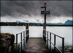 BOAT STOP  - LAKE OF GENEVA (J.P.B) Tags: ruth lake geneva storm pause long exposure nuages orage clouds