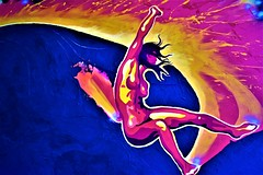 The Volcano Goddess (thomasgorman1) Tags: nikon painting surfer woman goddess pele colors art artwork hawaii legend tradition culture surfing lava volcano expressionism wave