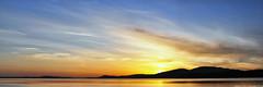 2018-05-13 Sunset Panorama (3072x1024) (-jon) Tags: anacortes skagitcounty skagit washingtonstate washington salishsea fidalgoisland sanjuanislands pugetsound guemeschannel kiwaniswaterfrontpark sunset sky cirrus clouds cloud pnw pacificnorthwest composite stitched pano panoramic panorama a266122photographyproduction
