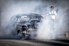 Burnout (Paul Rioux) Tags: drag race car 1955 55 chevrolet chev chevy automobile vehicle racing motorsport competition burnout tire smoke westernspeedway prioux