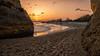 Sunset strole (mickreynolds) Tags: 2018 algarve alvor april2018 family nx500 portugal sunset beach mediterranean sea sand