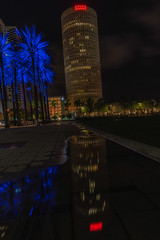 Rivergate Tower Reflected (Photomatt28) Tags: beercan effects florida reflection rivergatebuilding sykesbuilding tampa unitedstates us