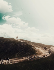 Trail to Tranquility (Stachmo) Tags: trail tranquility witcher 3 wild hunt iii reshade landscape minimalism minimalist peace sky digital art