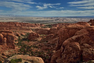 Walking on Top of a Sandstone Fin and Savoring the Views of a World Beyond! (Arches National Park)