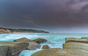 Rocky Seascape and Turquoise Sea (Merrillie) Tags: daybreak nsw sunrise soldiersbeach centralcoast nature dawn norahhead surf overcast sea weather newsouthwales waves earlymorning morning waterscape beach ocean landscape sky coast coastal clouds outdoors seascape cloudy wyong australia water