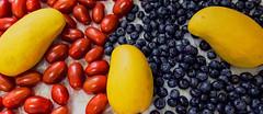 FRESH PRODUCE (sadler0) Tags: mango tomatoes blueberries produce fruit rogersadler
