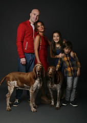 Family Photography - Family Portrait with Pet Dogs (vanitystudiosphotography) Tags: family photography familyphotography portrait familyportrait colour freetouse creativecommons stockphoto stockimage couple husband wife kids children female male dogs dogportrait