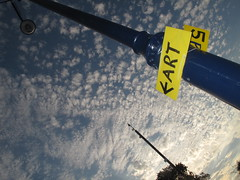 Swanage  FArt (brightondj - getting the most from a cheap compact) Tags: pubeck isleofpurbeck 2010s 2017 2017august holiday purbeckholiday dorset swanage art sign sky clouds langtontostudlandwalk southwestcoastpath