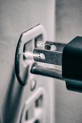 Hot Plug! (Abstract) (Brian Legate) Tags: 30apr18 plugsandorjacks blackandwhite closeup electric electricity electronics group highkey homeappliance hot macromondays macrophotography outlet photography plug plugs power