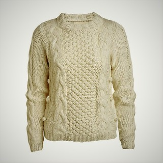 Irish aran wool sweater