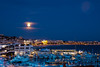 The moon and the Riviera (T Ironman) Tags: frenchriviera france cannes nightshot citylights mediterranean moon moonlight