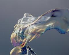 Smoke bubble (ZUHMHA) Tags: marseille france bulles bubble line lignes courbes curve geometry géométrie forme form sphère cercle circle savon eau water urban urbain irisé sculpture reflet reflection totalphoto