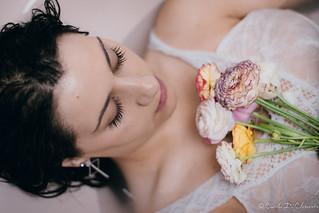 Deborah and flowers.