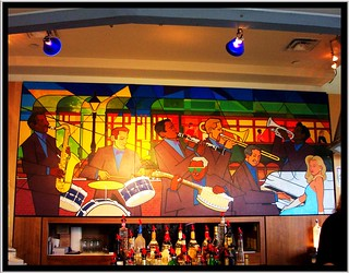 New Orleans Louisiana  - Royal St Charles Hotel - Boutique -  Mural in Bar