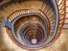 Hamburg - Up and down the stairs (Karsten Gieselmann) Tags: 714mmf28 braun deutschland em5markii germany hamburg mzuiko mesberghof microfourthirds olympus treppe brown kgiesel m43 mft staircase stairs