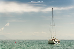 Navegando (NatyCeballos) Tags: bote mar cielo agua velero ciel airelibre water nubes boat saliboat voilier bateau nikond7000 nikon