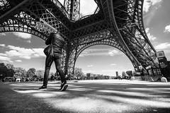 Paris III (bjdewagenaar) Tags: photography photograph photographer photooftheday sony sonyalpha sonyphotographer sonyimages sonya77ii sonya sigma wideangle bw blackandwhite blackwhite mono monochrome monoart streetphotography city urban paris eiffeltower raw lightroom