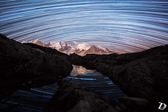 Dreamcatcher n°4 ©DeschampsDamien (deschdam6@gmail.com) Tags: time timelapse photo photography chamonix france art life stars earth sky mountains stacking startrail night landscape lake reflection nature outdoor montblanc montagne paysages paysage nuit dark darkness