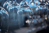 Upside Down (Rob₊Lee) Tags: upsidedown wineglasses rack reflections bokeh restaurant bar hanging stored wine glasses lights