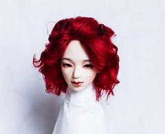 wig for sale. in stock (SophyMolly) Tags: wig bjd balljoineddoll abjd angora sale sophymolly doll dolls artdoll adoption discount red hairstyle haircut handmade custom curly