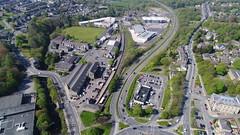 Rawtenstall (North Ports) Tags: rawtenstall rossendale lancashire aerial dji uav phantom east lancs railway
