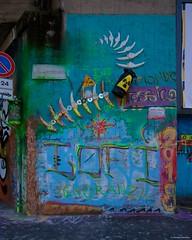 IMGP9785 Toxic world (Claudio e Lucia Images around the world) Tags: murales graffiti streetart milano vialemonza ferrovia via pontano milanese pentax pentaxk3ii sigma sigma1020 pittura face faccia murale art viapadova padova persone muro toxic world bones radioactivity