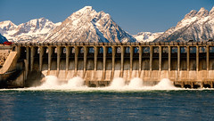 Jackson Lake Dam (shishirmishra1) Tags: water waterfront dam wyoming yellowstone sceneic mountains landscape travelling travel naturephotography national park