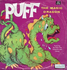 Puff The Magic Dragon 45RPM Record ( Peter Pan Records 1965 ) (Donald Deveau) Tags: puffthemagicdragon 45rpm record vinyl illustration