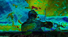 Concerto per Viola notturno 2 (soniaadammurray - On & Off) Tags: digitalphotography manipulated experimental collage abstract collaboration massimobardelli concert violinist music art artchallenge