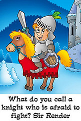 Examples of Puns for Kids (professorstudybay) Tags: knight knights man person people horse animal armor armour helmet strong brave hero medieval history style defense defensive noble honour honourable winter snow moon star night evening tree castle architecture tower weapon sword shield metal look looking smile smiling happy emotion illustration draw drawing art artwork design graphic cartoon