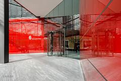 Building 6 Entrance (ARTUS8) Tags: color farbe nikon28300mmf3556 spiegelung portaltüren linien flickr nikond800 colour reflection tür door