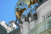 art and beauty (christikren) Tags: austria architecture artnouveau sammlung kunst wien vienna facade perspective vergoldet weltkugel globe balcony palais art beaux building jugendstil figuren ausstellung secessionstil antonundjosefdrexler women history statue gold ladys