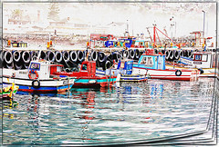 Reflections of Kalk Bay (PaulO Classic. ©) Tags: kalkbay capetown canon eos450d picmonkey photoshop spe smartphotoeditor textures watercolour
