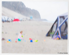 Morning by the Sea 3 (vilmaca) Tags: beach sea pacificocean sand toys playing colors flame child icm painterly