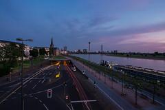 Summer in the City (Blende4.0) Tags: düsseldorf duesseldorf rhein rhine fernsehturm traffic lighttrails blue hour dusk twilight