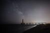Bridge of stars (D@rkne§§260) Tags: stars étoiles voie lactée milkyway voielactée bridge pont port leucate night nikon