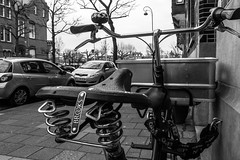 AmsterBrooks (109/365) (Walimai.photo) Tags: black white blanco negro byn bw branco preto street calle bike bici bicicleta brooks sillín amsterdam holanda nederlands lumix lx5 panasonic blanc noir