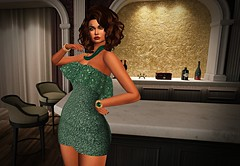 Night Girl (kare Karas) Tags: woman lady femme girl girly sweet cute beauty sensual sexy avatar secondlife virtual fun game indoors city event may spring dress necklace bracelets hair poses colors huds appliers gemface glitter glitterposes it ygtl firelight swankevent