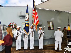 IOWA 47 Remembrance 4-19-2018 (20) (Konabish ~ Greg Bishop) Tags: battleshipiowarememberingthe47 warship bb61 ussiowa the47 turret2 ceremony remembrance sanpedrocalifornia portoflosangeles pola southerncalifornia flagoftheunitedstatesofamerica oldglory