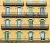 Balconies, long and short:  Barcelona (Spencer Means) Tags: dwwg balcony balcón balkon window shutters architecture building house apartment dreta eixample barcelona catalonia catalunya spain