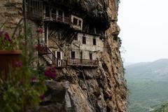 Prodromou Monastery, Lousios river, Greece (spyRaw) Tags: mountain rocks trees river flowers dof trekking h