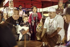 In the flow, drumming and chanting (PeterThoeny) Tags: stanford stanforduniversity california siliconvalley sanfranciscobay sanfranciscobayarea southbay powwow stanfordpowwow festival competition americanindian tribe drum song chant family people minnesota night sony a7 a7ii a7mii alpha7mii ilce7m2 fullframe vintagelens dreamlens canon50mmf095 canon 1xp raw photomatix hdr qualityhdr qualityhdrphotography music americanindianmusic fav50
