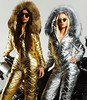 gold and silver suits (skisuitguy) Tags: skisuit skisuits snowsuit ski snow suit skiing skiwear skifashion skioutfit skibunny snowbunny onepieceskisuit onepiecesuit onesie onepiece skianzug skidress allinone